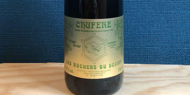 Une bouteille de chufere, variante du chouchen breton