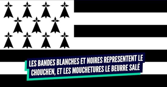 Un drapeau breton revisité avec un beau clin d'œil au chouchen